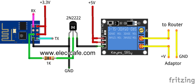 ESP8266 Auto Restart Router_Elec-Cafe