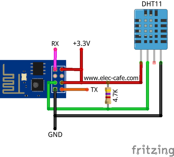 esp8266 temperature    humidity webserver with a dht11 sensor