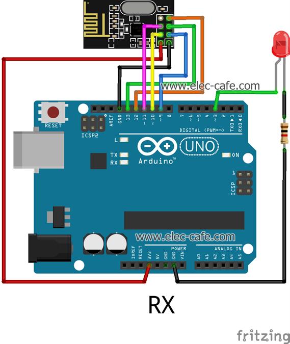nRF24L01_LED_Arduino_UNO_RX_Elec-Cafe