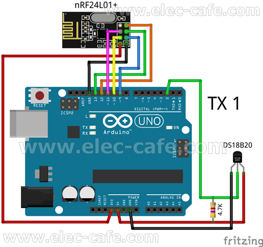 TX1_DS18B20_ArduinoUNO_nRF24L01_Elec-Cafe