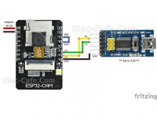 ESP32-CAM FT232RL USB Adapter