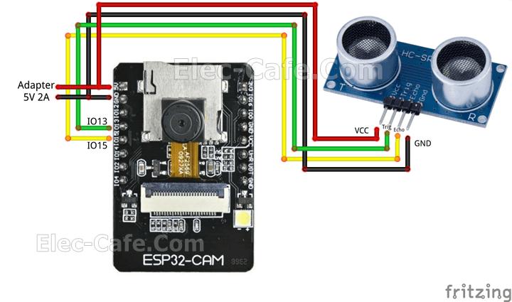 ESP32-CAM Blynk Ultrasonic Sensor HC-SR04 with LINE Notify