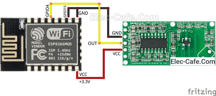 ESP-12E and Motion Sensor RCWL-0516
