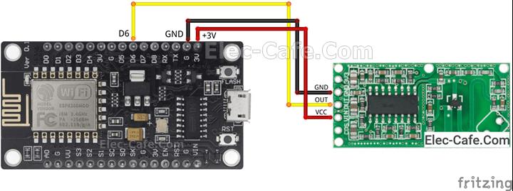 ESP8266 NodeMCU V3 RCWL-0516