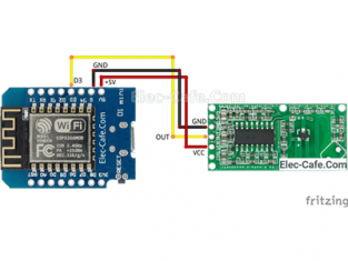 ESP8266 WeMos D1 Mini RCWL-0516