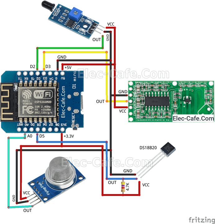 WeMos D1 Mini Multi Sensor with Home Assistant (ESPHome)